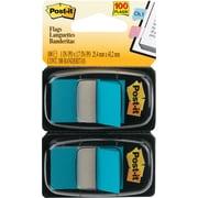 """Post-it® 1"""" Bright Blue Flags with Pop-Up Dispenser, 2/Pack"""