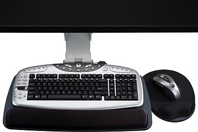 Staples Under Desk Mount Adjustable Keyboard Tray, Black (18240)