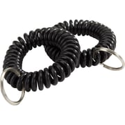 Staples® Key Ring Wrist Coil, Black