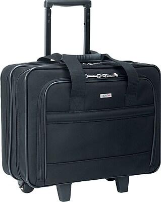 U.S. Luggage™ Wheeled Laptop Computer Case, Ballistic Nylon, Black, 15