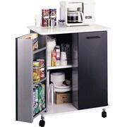 """Safco® Refreshment Stand, 33 1/4""""H x 32""""W x 21""""D, Black, 8963BL"""