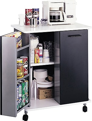 Safco® Refreshment Stand, Black, 33 1/4