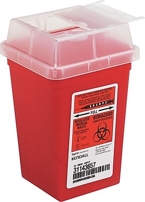 Impact Sharps Waste Containers, Red, 1 Quart, 6 3/4