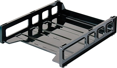 Staples Stackable Desk Trays, Front Load Letter Size (DPS03535)