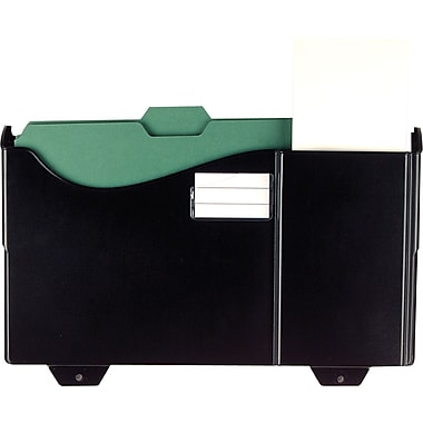 OIC Grande Central Cubicle File Pockets, Black, Each (21722)
