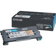 Lexmark C500H2CG Cyan Toner Cartridge, High Yield (C500H2CG)