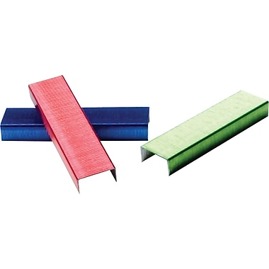 Swingline® Color Bright Staples, Assorted Colors, 1/4