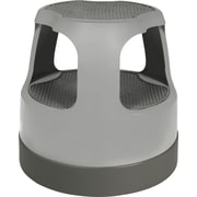 Cramer Scooter Stool Round, Step & Lock Wheels, Gray