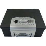 """MMF Industries™ STEELMASTER® Electronic Security Box, Black, 6 1/4""""H x 12 7/8""""W x 11 1/8""""D"""