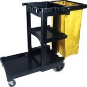 "Rubbermaid® Cleaning Cart with Zippered Yellow Bag, 38 3/8""H x 21 3/4"" x 46""D"