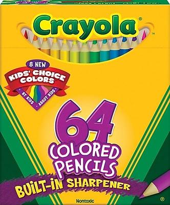 Crayola® Short Colored Pencil Set, 64/Pack