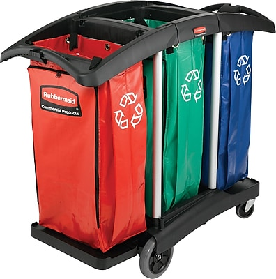 Rubbermaid 100 gal. Triple-Capacity Cleaning Cart Recyling Bags