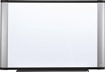 3M™ Widescreen Melamine Dry-Erase Board, Aluminum Frame, 72