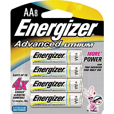 Energizer Advanced Lithium Batteries, AA, 8/Pack