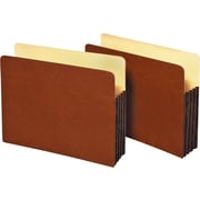 "Staples® 3 1/2"" Expanding File Pockets with Fully Lined Tyvek® Gussets"