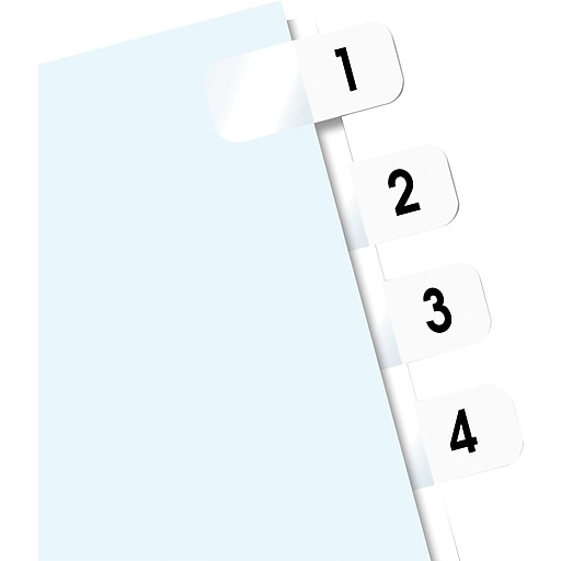 redi tag preprinted number tabs white 1 10 104 tabs pack staples