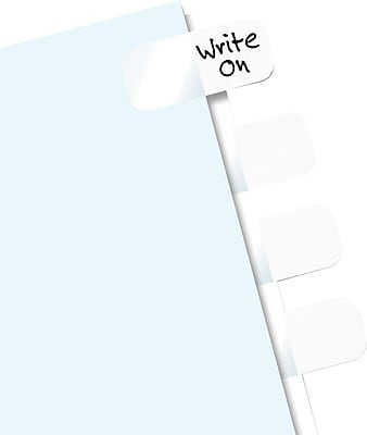Redi-Tag® Easy-To-Read Self-Stick Index Tabs, White, 416 Tabs/Pack