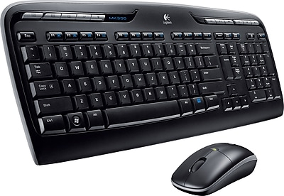 Logitech MK320 Full-Size Wireless Multimedia Keyboard and Optical Mouse Combo (920002836)