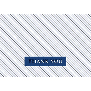 Great Papers® Striped Poplin Thank You Note Cards