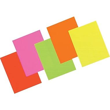 Pacon Array Neon Bond Paper, Assorted Colors, 24 lb, 100/Pk