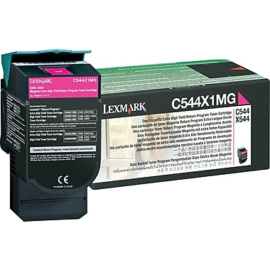 Lexmark Magenta Toner Cartridge (C544X1MG), Extra High Yield, Return Program
