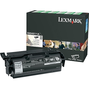 Lexmark X654X11A Black Return Program Toner Cartridge, Extra High Yield