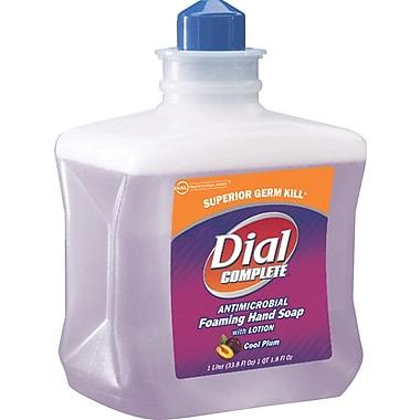 Dial® Foaming Soap; Cool Plum Antimicrobial Cartridge, 1,000 ml.