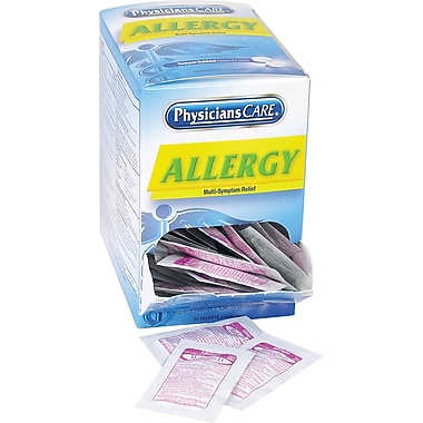 PhysiciansCare® Allergy Plus Antihistamine Medication, 50 Packets of Two Tablets (90091)