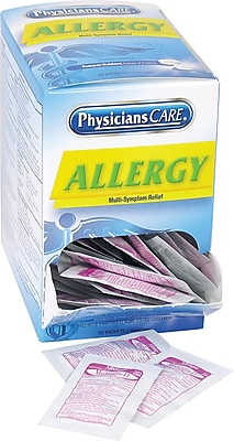 Physicians Care® Allergy Medicine, (Compare to Tylenol® Allergy Multi-Symptom), 50 Packets/Box