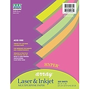 Pacon Array Hyper Bond Paper, Assorted Colors, 24 lb, 500/Rm