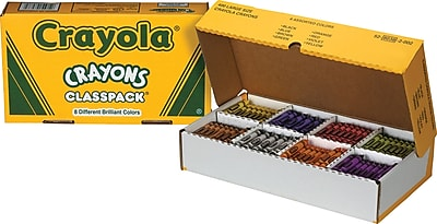 Crayola® Crayons Classpack®, 8 Colors, 400 Large Size/Box (528038)