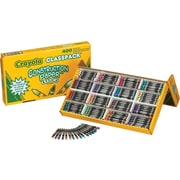 Crayola® Construction Paper™ 524616 Crayon, Assorted, 400/Box