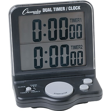 Champions Dual Timer/Clock with Jumbo 1