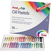 Pentel® Oil Pastel Set With Carrying Case, Assorted, 36/Set