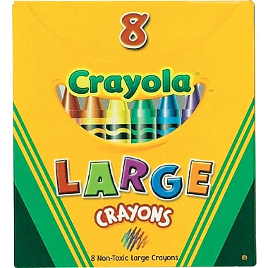 crayola large size crayons 8box - Crayola Sign