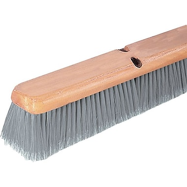 Polypropylene Broom Head, Gray, 24