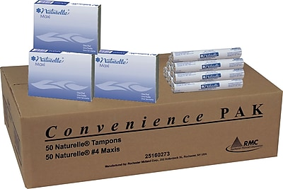 RMC Naturelle® 25160273 Maxis and Tampons Convenience Pak