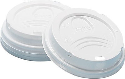 Dixie® Dome Plastic Hot Cup Lid by GP PRO, Large, White, 50/Pack (9542500DX)