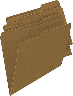 Sustainable Earth by Staples® Natural Brown, 3 Tab, Assorted Positions, 100/Box