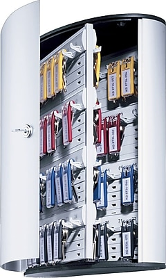 Durable Stylish Brushed Aluminum 72-Key Cabinet Systems