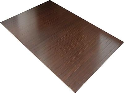 Anji Mountain Tri-Fold 60''x47'' Bamboo Chair Mat for Hard Floor, Rectangular, Dark Cherry (AMB0500-1009)