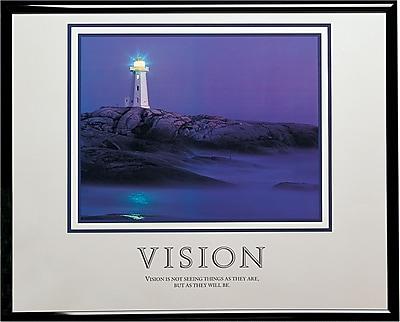 Vision (Lighthouse) Framed Motivational Print