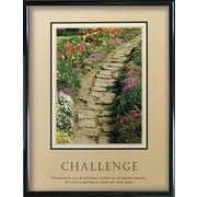 Challenges Framed Motivational Print