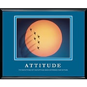 Attitude Framed Motivational Print