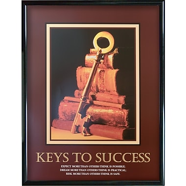 Keys To Success Framed Motivational Print