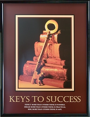 Keys To Success Framed Motivational Print