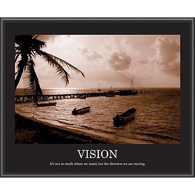 Vision Framed Motivational Print, Sepia