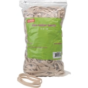 "Staples® Rubber Bands, #64, 3 1/2"" x 1/4"", 380/bag, 25 bags/Ct"
