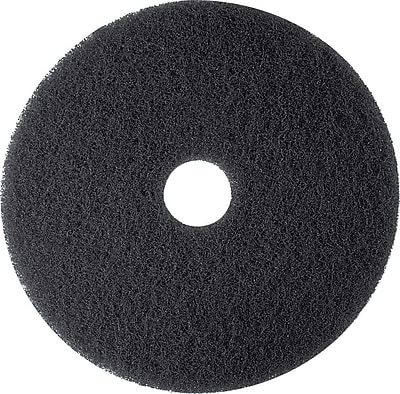 3M™ Low-Speed Floor Pad, High Productivity Stripping Pad 7300, Black, 19