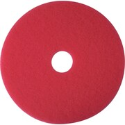 "3M Low-Speed Floor Pad, Buffing Pad 5100, Red, 16"", 5/Ct"